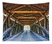Utica Mills Covered Bridge Tapestry