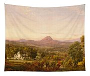 Autumn Landscape Sugar Loaf Mountain. Orange County  New York Tapestry