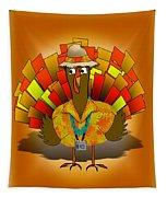 Vacation Turkey Illustration Tapestry