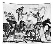 Vaccination Cartoon, C1800 Tapestry
