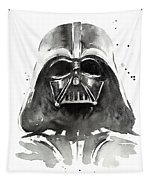 Darth Vader Watercolor Tapestry by Olga Shvartsur