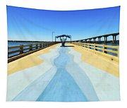 Valero Beach Fishing Pier Tapestry