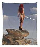 Valkyrie On The Shore Tapestry