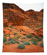 Valley Of Fire Red Sandstone Cliffs Tapestry