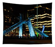 Vancouver - 2010 Olympic Cauldron Lit At Night Tapestry