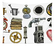 Various Object - Signs - Icons Tapestry