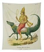 Varuna, God Of The Oceans, Engraved Tapestry