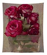 Vase Of Roses Tapestry