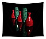 Vases In Dark Tapestry