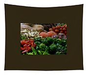 Vegetables In Chinese Market Tapestry