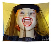 Veiled Laugh Tapestry