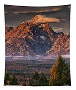 Veiled Tetons Tapestry