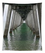 Venice Beach Pier Structure Tapestry