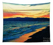 Venice Beach Sunset Tapestry