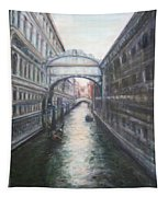Venice Bridge Of Sighs - Original Oil Painting Tapestry