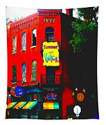 Venice Cafe' Painted And Edited Tapestry
