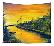 Venice California Canal Tapestry