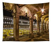 Venice St Mark's Square At Night Tapestry