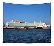 Ventura Sheildhall Calshot Spit And A Tug Tapestry