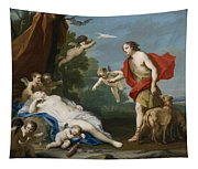 Venus And Adonis Tapestry