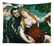 Venus Mars And Cupid Crowned By Victory Tapestry