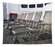 Verandah Seating 02 Queen Mary Ocean Liner Long Beach Ca Tapestry