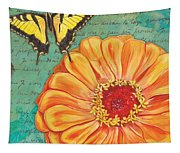 Verdigris Floral 1 Tapestry