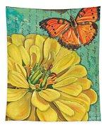 Verdigris Floral 2 Tapestry