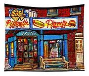 Verdun Restaurants Pierrette Patates Pizza Poutine Pepsi Cola Corner Cafe Depanneur - Montreal Scene Tapestry