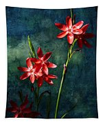 Vermilion Flowers Tapestry