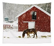 Vermont Christmas Eve Snowstorm Tapestry