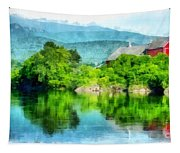Vermont Farm Along The Connecticut River Tapestry