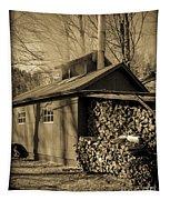 Vermont Maple Sugar Shack Circa 1954 Tapestry