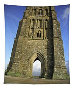 Vertical View Of Glastonbury Tor Tapestry