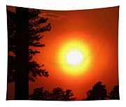 Very Colorful Sunset Tapestry