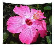 Vibrant Pink Hibiscus Tapestry