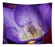 Vibrant Purple Flower Tapestry