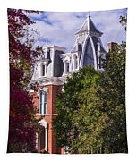 Victorian Home In Autumn Photograph As Gift For The Holidays Print Tapestry