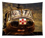 Vietnam Era Medivac 369 Helicopter Tapestry