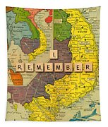Vietnam War Map Tapestry