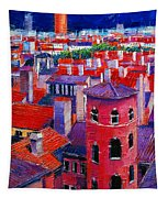 Vieux Lyon Rooftops  Tapestry