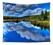 View At The Green Bridge - Old Forge New York Tapestry