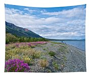 View Four Kluane Lake From Cottonwood Campground Near Destruction Bay-yk Tapestry