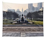 View From Rocky's Footsteps Tapestry