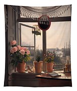 View From The Artist's Window Tapestry