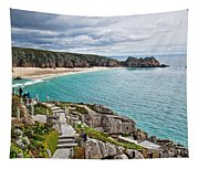 View From The Minack Theatre Tapestry