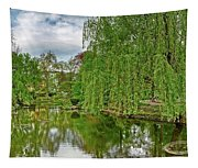 View Of A Botanical Garden, Krakow Tapestry