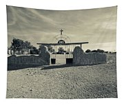 View Of Abandoned Church Gate Tapestry