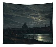 View Of Dresden By Moonlight Tapestry
