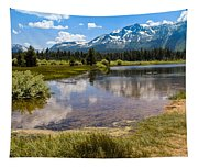 View Of Mount Tallac From Taylor Creek Beach Lake Tahoe Tapestry